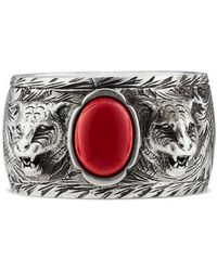Gucci | Garden Ring In Silver | Lyst