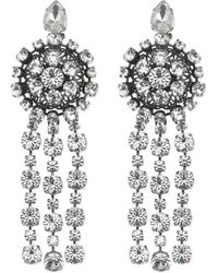 Gucci - Metal Earrings With Drop Crystals - Lyst