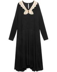 Gucci - Robe longue en sablé - Lyst