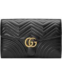 Gucci - Gg Marmont Matelassé Clutch - Lyst