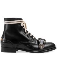 Gucci - Queercore Brogue Boot - Lyst