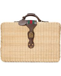Gucci - Wicker Suitcase - Lyst