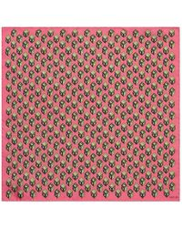 Gucci - Gg Wallpaper Print Silk Pocket Square - Lyst
