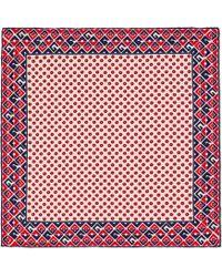 Gucci - Fazzoletto da taschino in seta con stampa G geometrica - Lyst