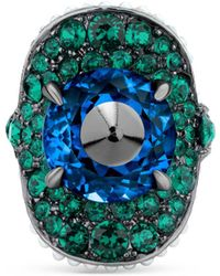 Gucci - Ring With Stud And Crystals - Lyst
