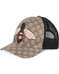 Gucci - Baseballkappe aus GG Supreme mit Bienen-Print - Lyst