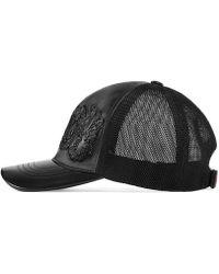 262774b3c8cb2 Lyst - Gucci Canvas Baseball Hat in Black for Men