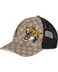 vendite speciali ottimi prezzi pregevole fattura Cappellino da baseball GG Supreme con stampa tigre - Neutro
