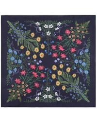 Gucci - New Flora Print Silk Pocket Square - Lyst