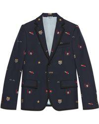 Gucci - Cambridge Jacke mit Symbolen - Lyst