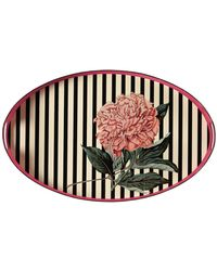 Gucci - Flower Print Oval Metal Tray - Lyst