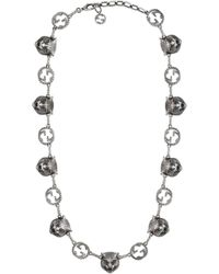 Gucci - Garden Feline Heads Necklace - Lyst