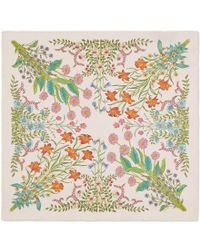 Gucci - New Flora Print Silk Pocket Square - Lyst