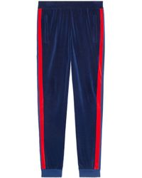Gucci - Chenille jogging Pant With Web - Lyst