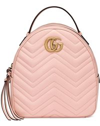 dba148ad1195 Gucci - GG Marmont Quilted Leather Backpack - Lyst