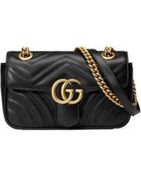Gucci - Gg Marmont Matelassã© Mini Bag - Lyst
