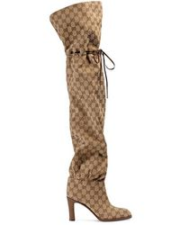 Gucci - Original GG Canvas Over-the-knee Boot - Lyst