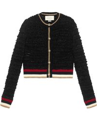 Gucci - Cardigan en maille avec bande Web - Lyst