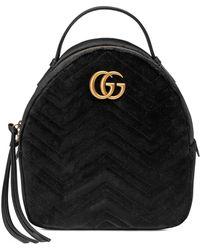Gucci - Gg Marmont Velvet Backpack - Lyst