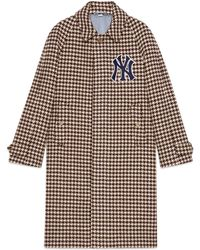 Gucci - Cappotto uomo con patch NY YankeesTM - Lyst
