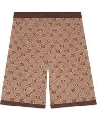 Gucci - GG Jacquard Knit Shorts - Lyst