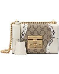 Gucci - Padlock Snakeskin Small Shoulder Bag - Lyst
