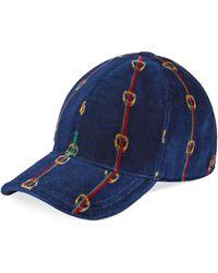 Gucci - Cappello in ciniglia con stampa - Lyst