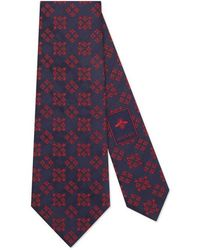 Gucci - Bees And Stars Squares Silk Tie - Lyst
