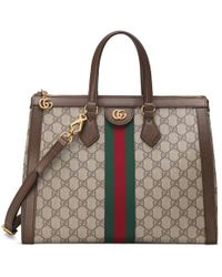 ee402a91dfc Gucci Signature Leather Top Handle Bag in Pink - Lyst
