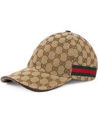 Gucci - Baseball-Cap mit Webstreifen - Lyst