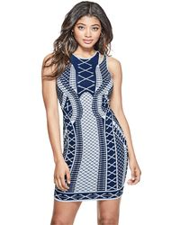 Guess - Clara Jacquard Dress - Lyst