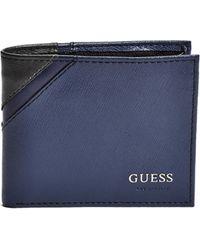Guess - Artesia Saffiano Billfold Wallet - Lyst
