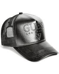 Guess | Faux-leather Baseball Cap | Lyst