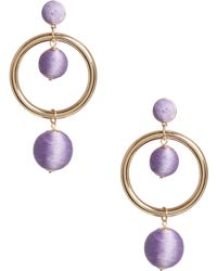 Guess - Wrapped Bauble Drop Earrings - Lyst