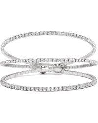 Guess - Rhinestone Spiral Bracelet - Lyst