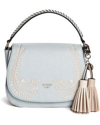 Guess - Nessa Embroidered Saddle Bag - Lyst