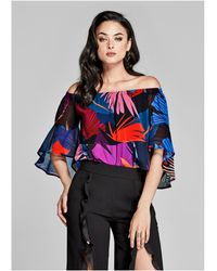 Guess - Psychotropic Off-the-shoulder Top - Lyst