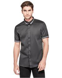 Guess - Luxe Knit Short-sleeve Shirt - Lyst