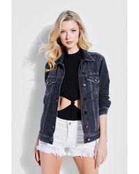 Guess - Ellie Oversized Denim Jacket - Lyst