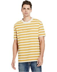 a1dabb72ba81 Lyst - Guess Carl Striped Tee in Blue for Men