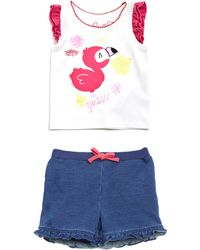Guess | Cap Sleeve Tee And Shorts Set (0-24m) | Lyst
