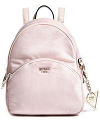Guess - Bradyn Velvet Small Backpack - Lyst