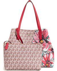 Guess - Vikky Floral Geo-print Satchel Set - Lyst