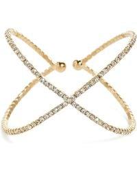 Guess | Rhinestone Cuff Bracelet | Lyst