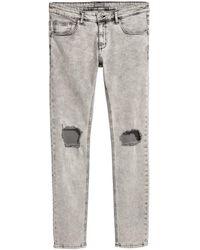 H&M | Super Skinny Trashed Jeans | Lyst