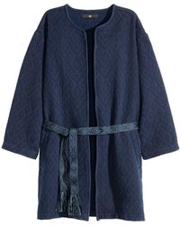 H&M - Jacquard-weave Coat - Lyst