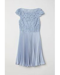 H&M - Pleated Dress - Lyst