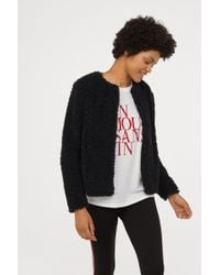 H&M - Faux Fur Jacket - Lyst