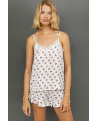 H&M - Pajama Top And Shorts - Lyst
