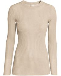 H&M - Ribbed Jersey Top - Lyst